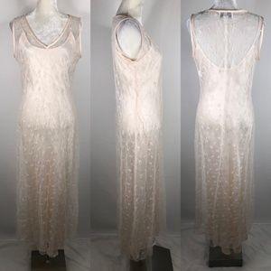 Jessica McClintock Gunne Sax Maxi Dress Small